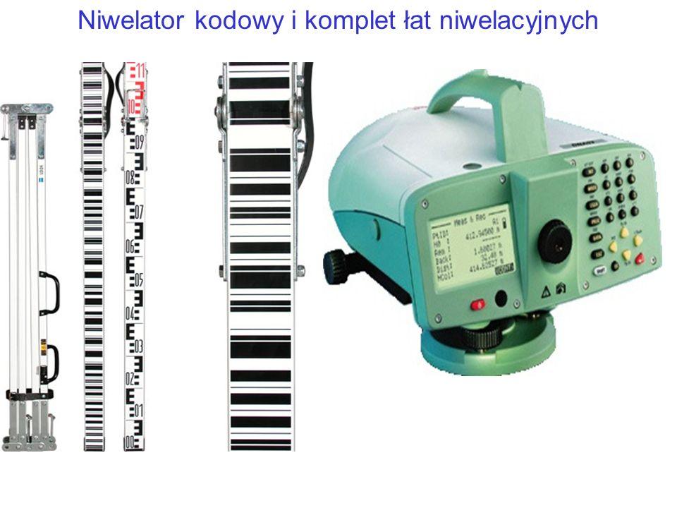 Niwelator kodowy i komplet łat niwelacyjnych