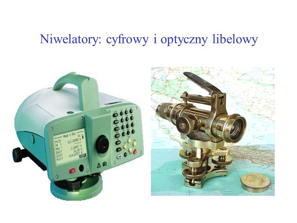 Niwelatory: cyfrowy i optyczny libelowy