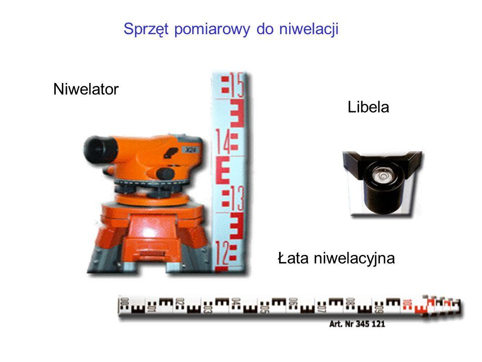 Sprzęt pomiarowy do niwelacji