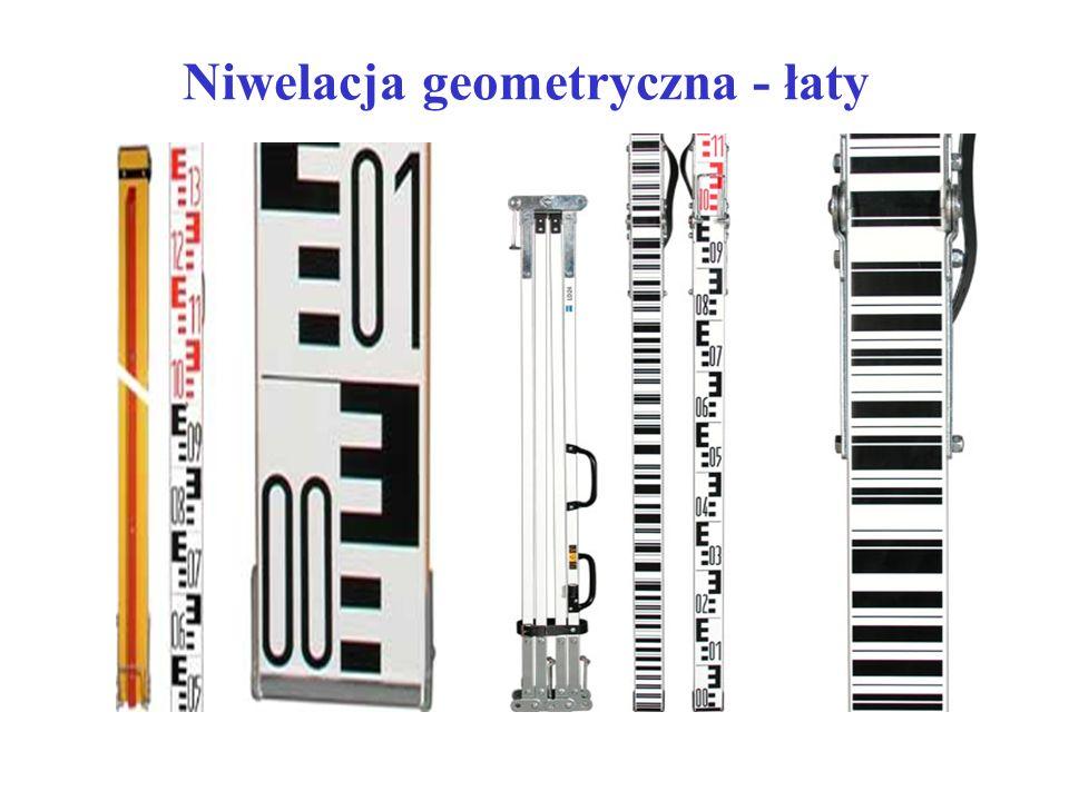 Niwelacja geometryczna - łaty