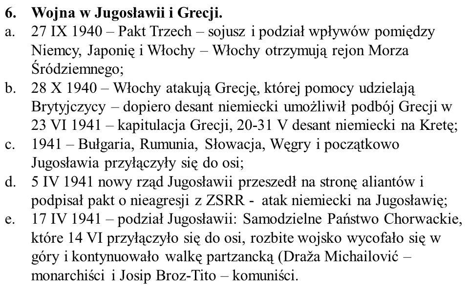 Wojna w Jugosławii i Grecji.