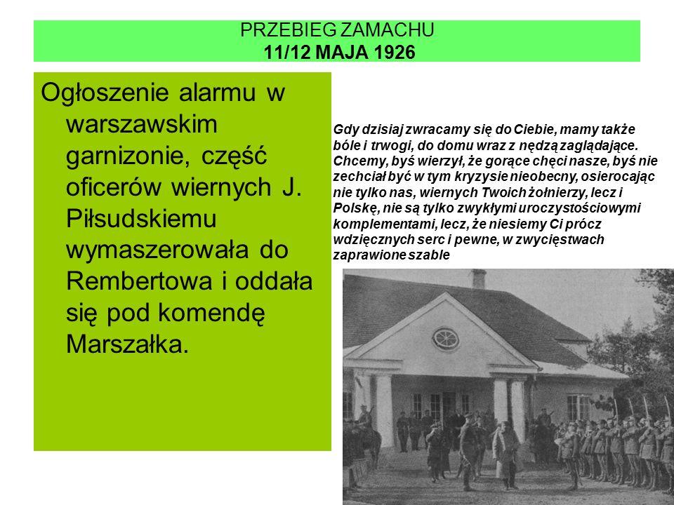 PRZEBIEG ZAMACHU 11/12 MAJA 1926
