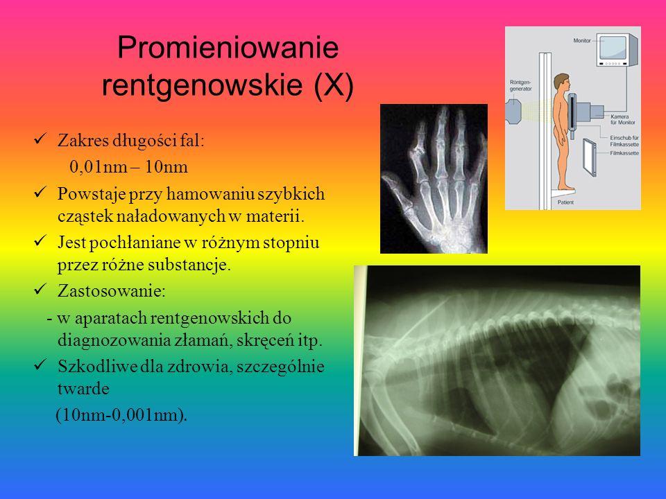Promieniowanie rentgenowskie (X)