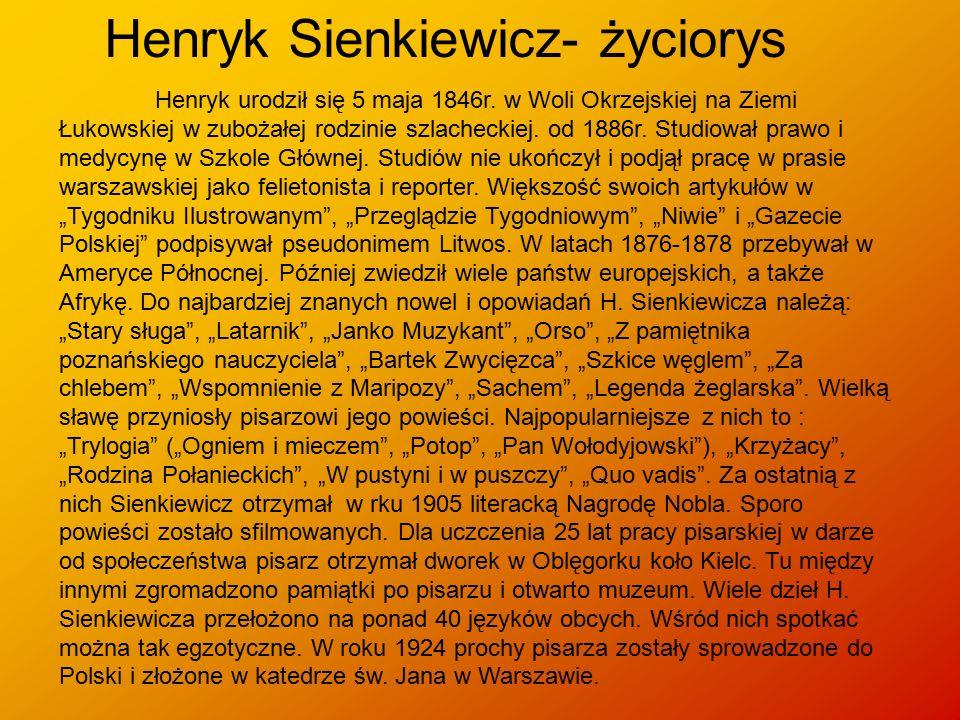 Henryk Sienkiewicz- życiorys