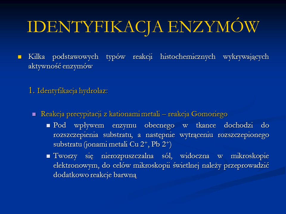 IDENTYFIKACJA ENZYMÓW