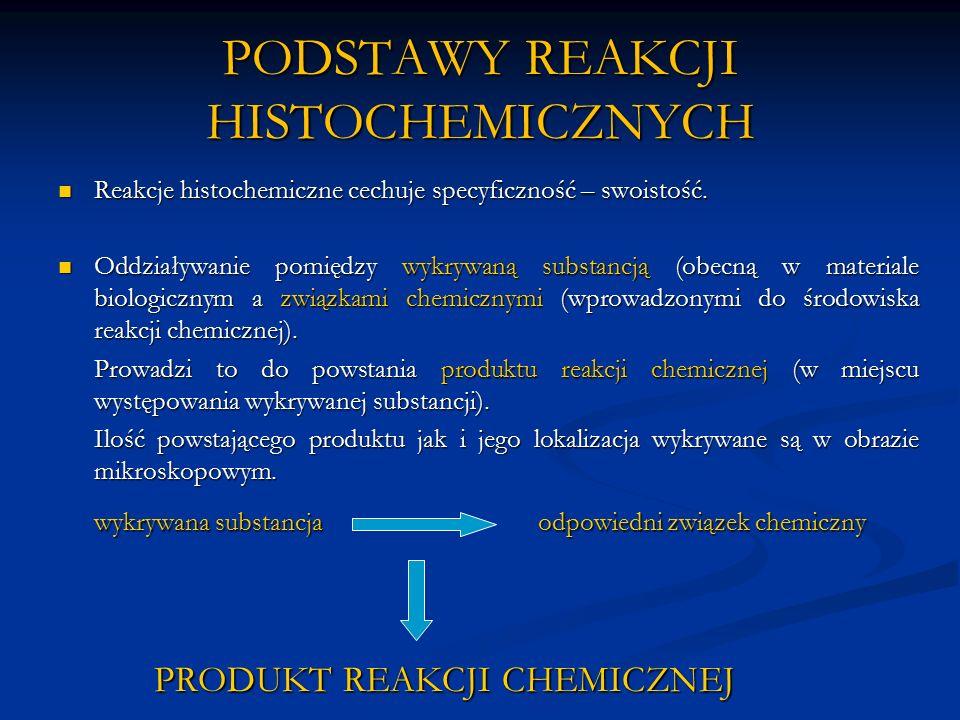 PODSTAWY REAKCJI HISTOCHEMICZNYCH