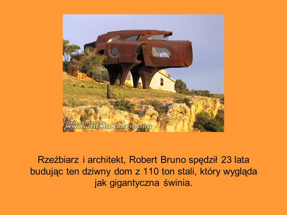 Rzeźbiarz i architekt, Robert Bruno spędził 23 lata budując ten dziwny dom z 110 ton stali, który wygląda jak gigantyczna świnia.