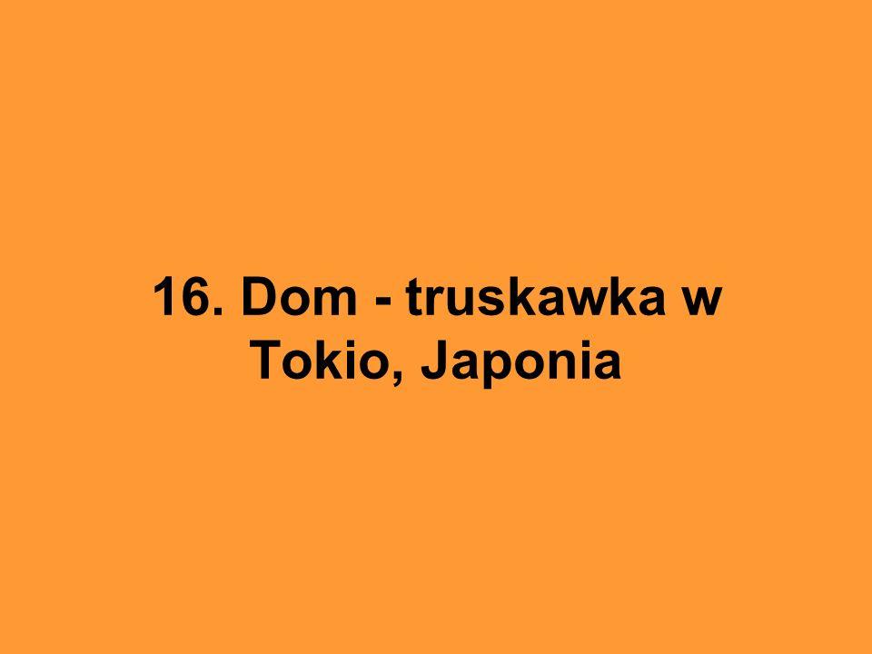 16. Dom - truskawka w Tokio, Japonia