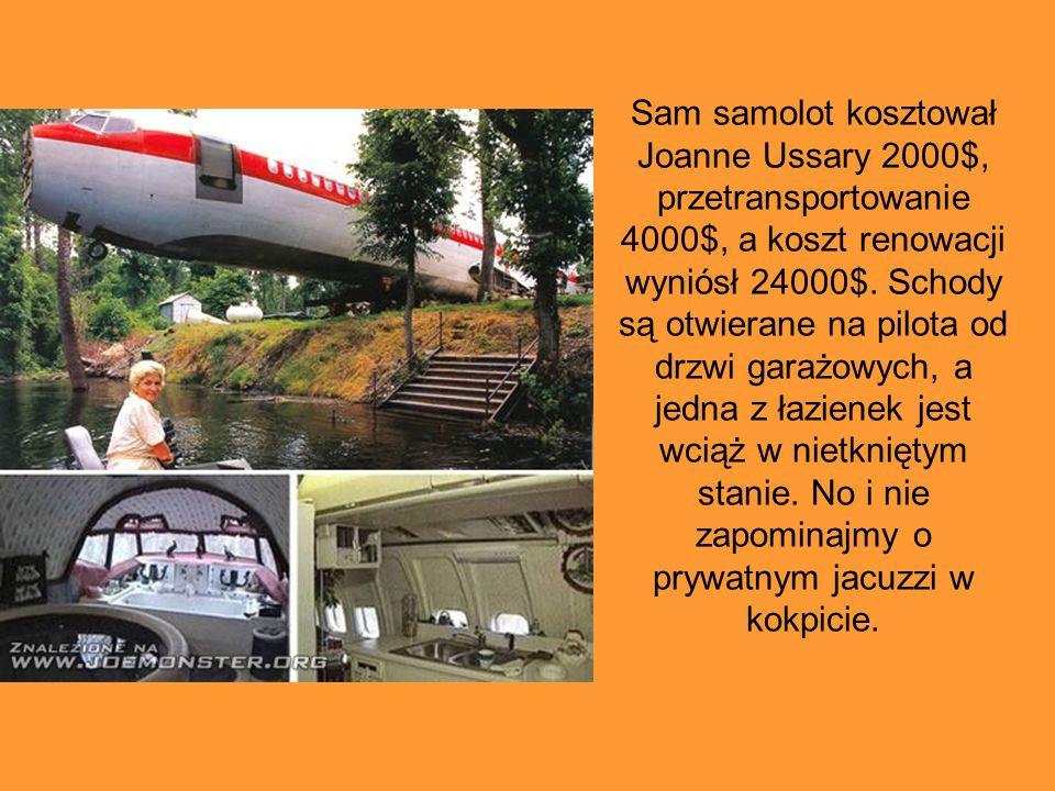 Sam samolot kosztował Joanne Ussary 2000$, przetransportowanie 4000$, a koszt renowacji wyniósł 24000$.