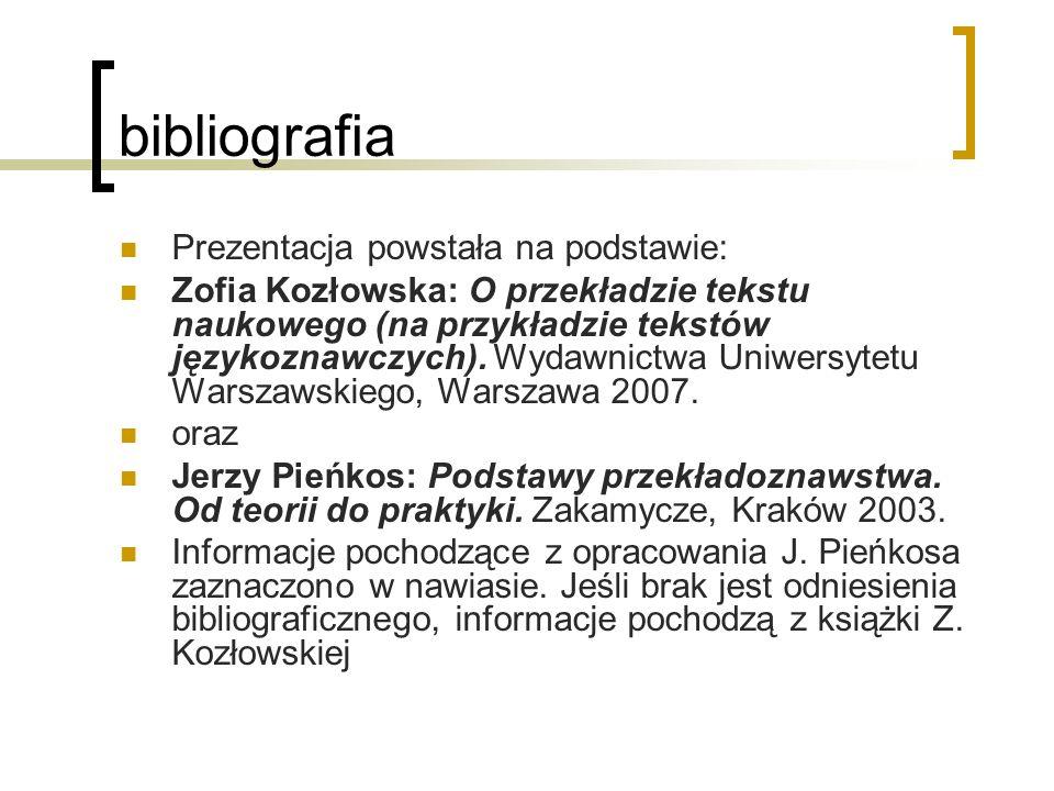 bibliografia Prezentacja powstała na podstawie: