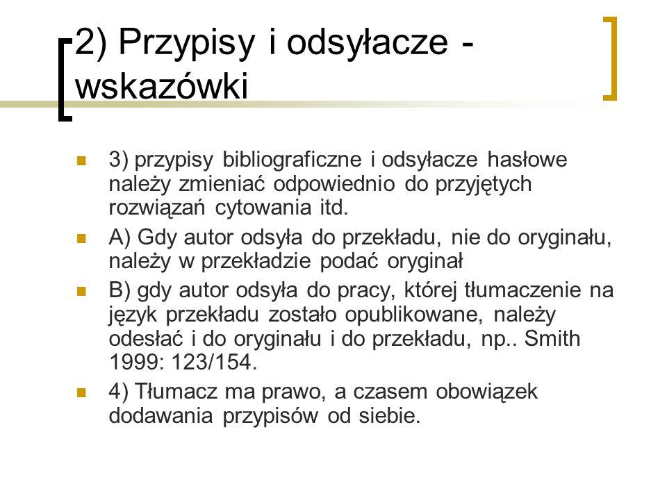 2) Przypisy i odsyłacze - wskazówki