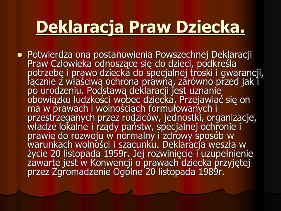 Deklaracja Praw Dziecka.