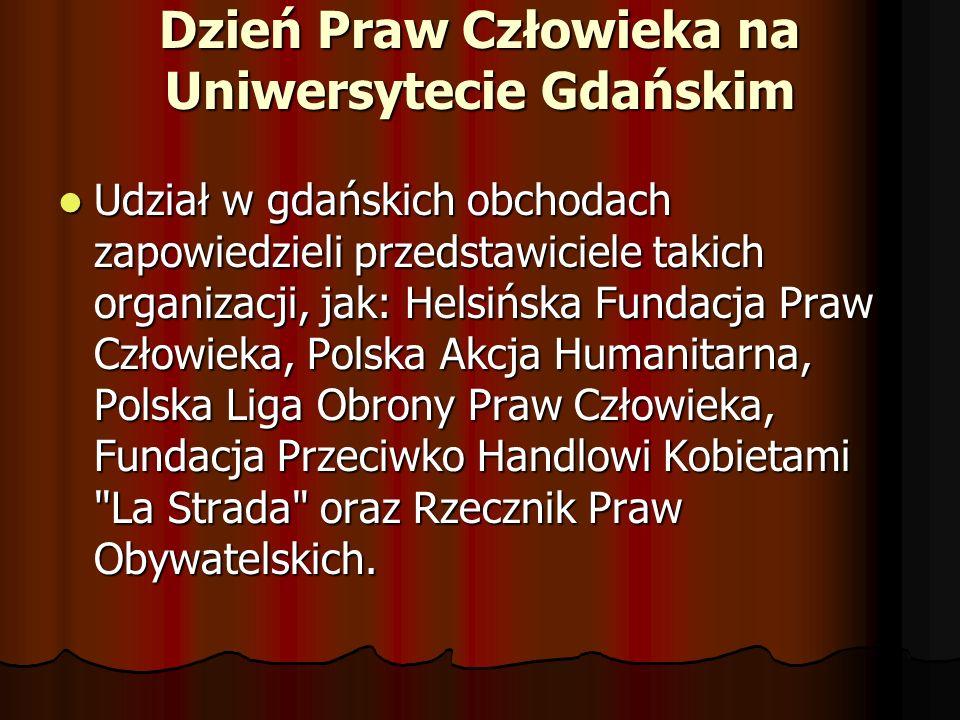 Dzień Praw Człowieka na Uniwersytecie Gdańskim