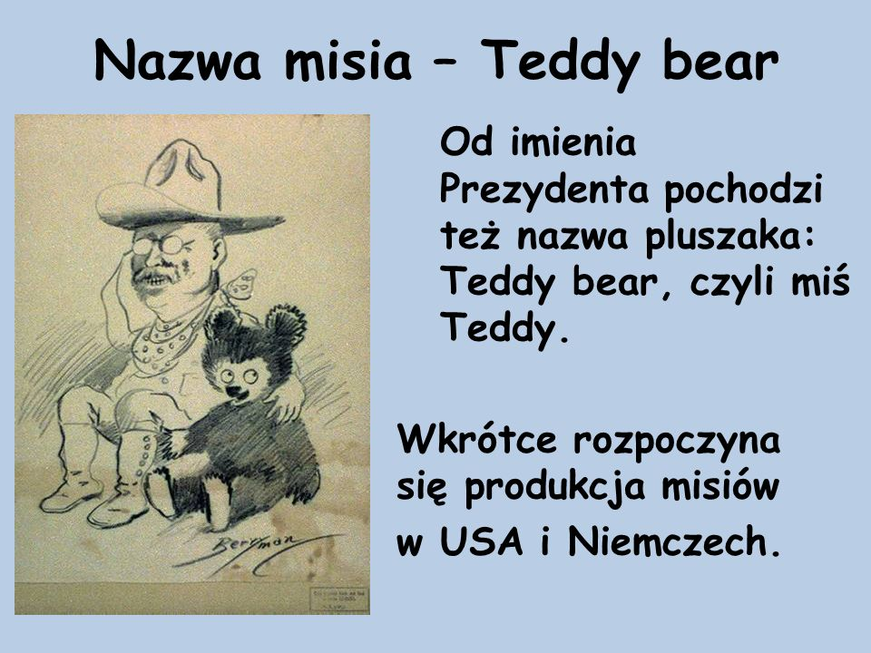 Nazwa misia – Teddy bear
