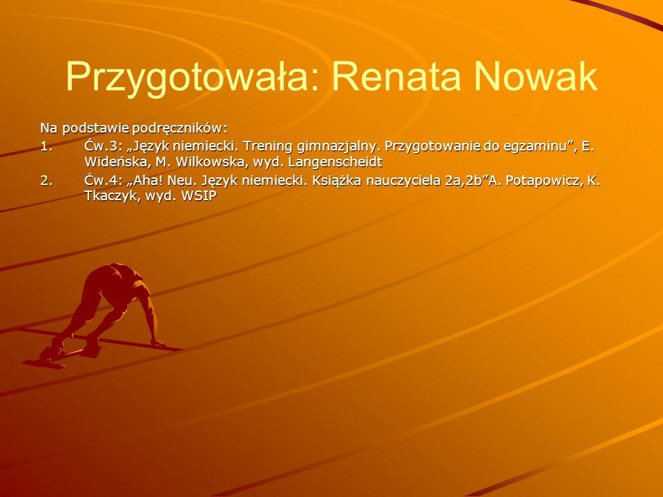 Przygotowała: Renata Nowak