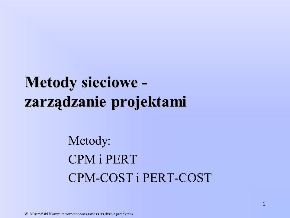Metody sieciowe - zarządzanie projektami