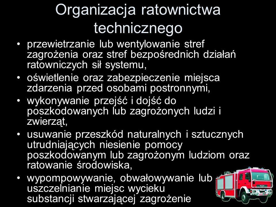 Organizacja ratownictwa technicznego