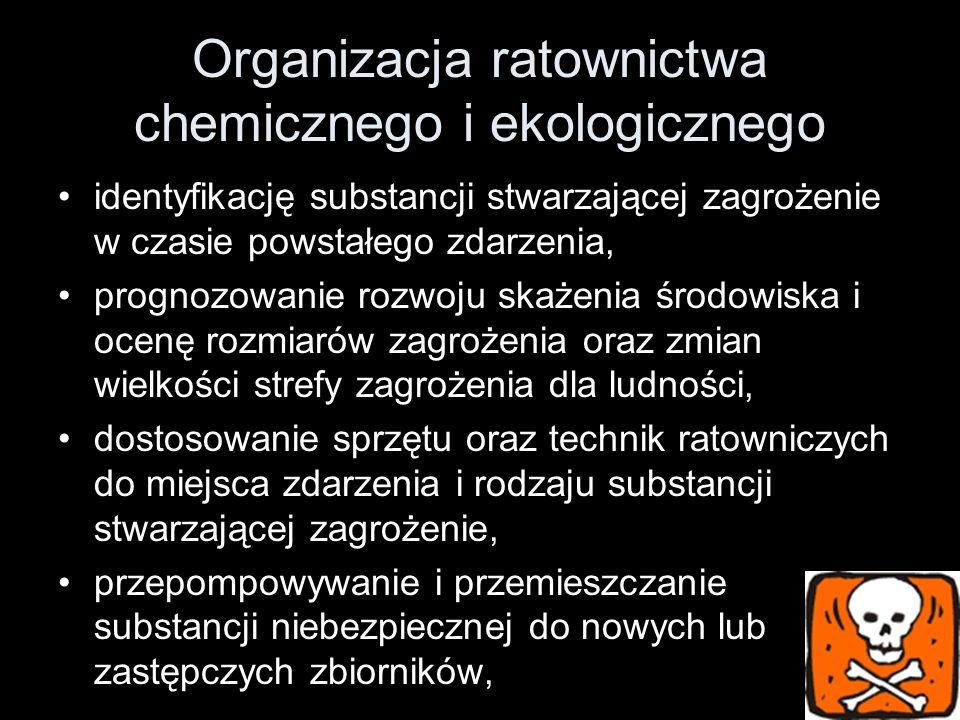 Organizacja ratownictwa chemicznego i ekologicznego