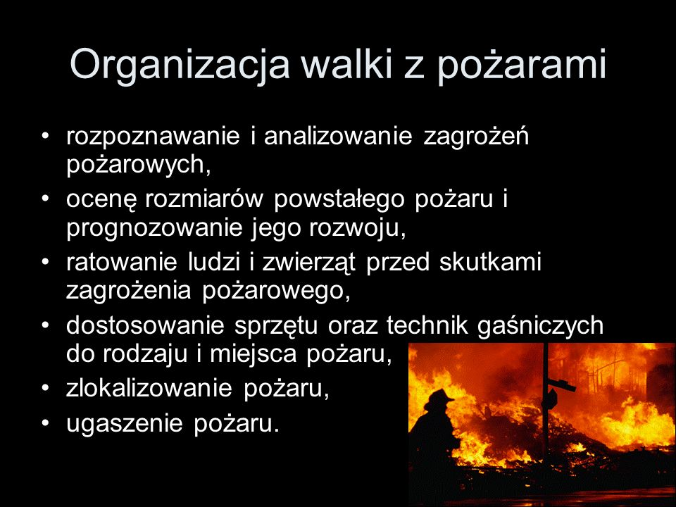Organizacja walki z pożarami
