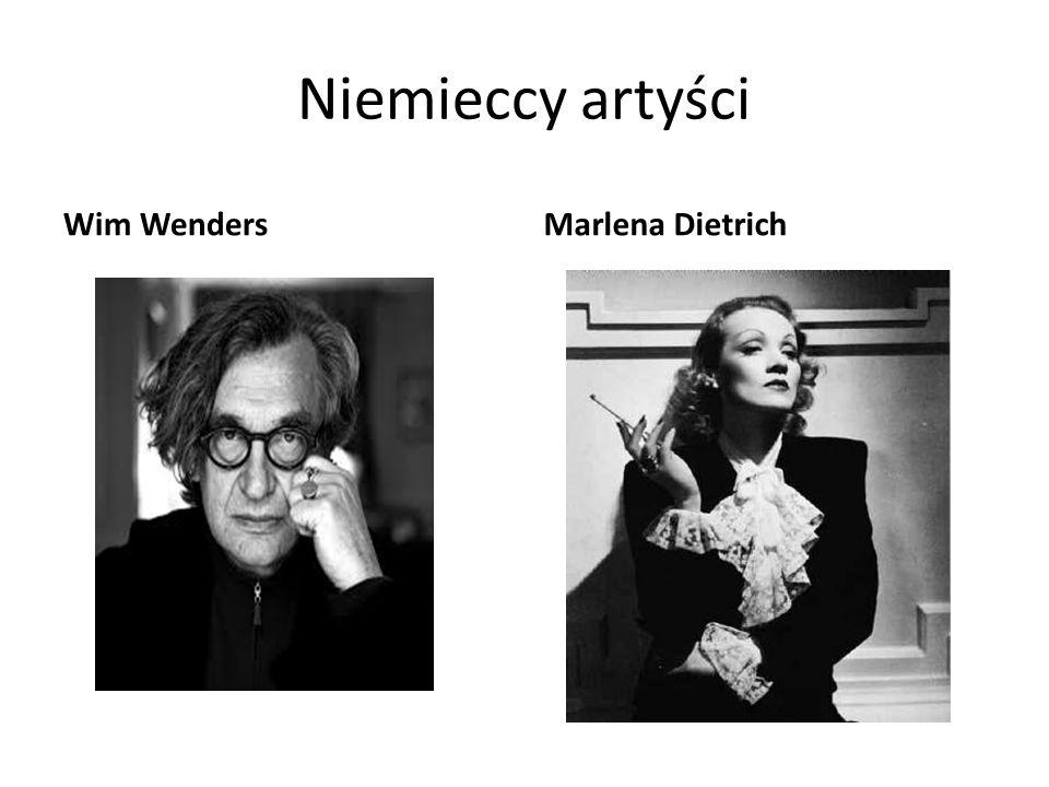 Niemieccy artyści Wim Wenders Marlena Dietrich
