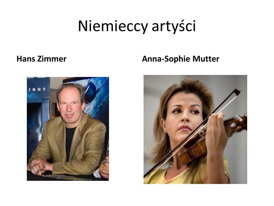 Niemieccy artyści Hans Zimmer Anna-Sophie Mutter
