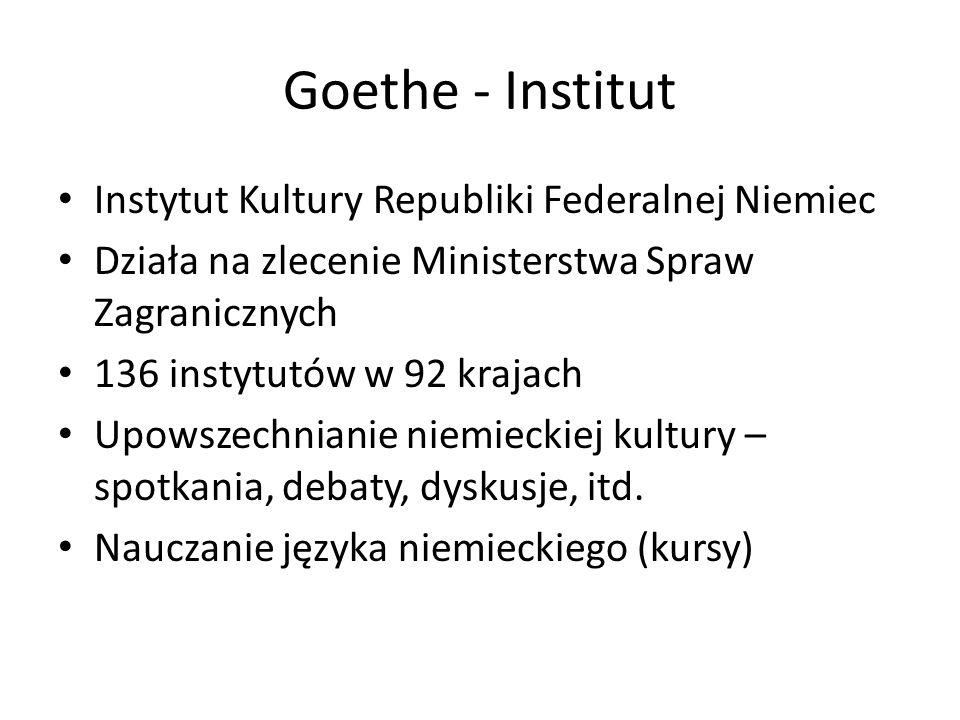 Goethe - Institut Instytut Kultury Republiki Federalnej Niemiec