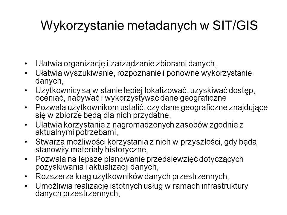 Wykorzystanie metadanych w SIT/GIS