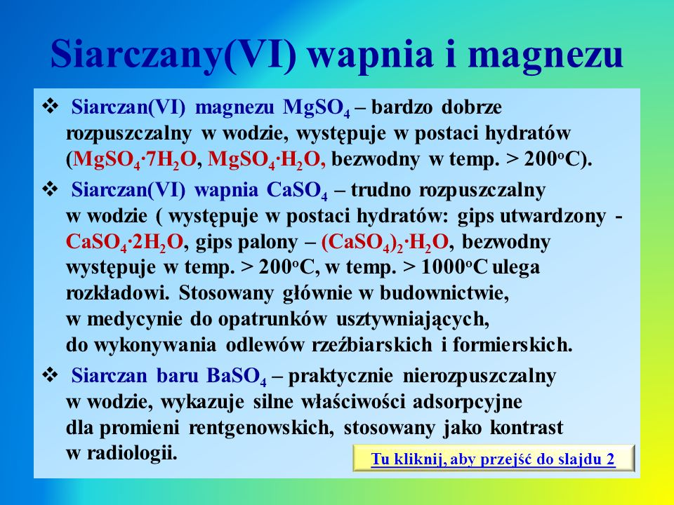 Siarczany(VI) wapnia i magnezu