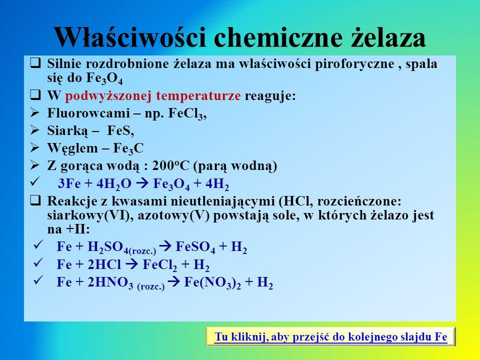 Właściwości chemiczne żelaza