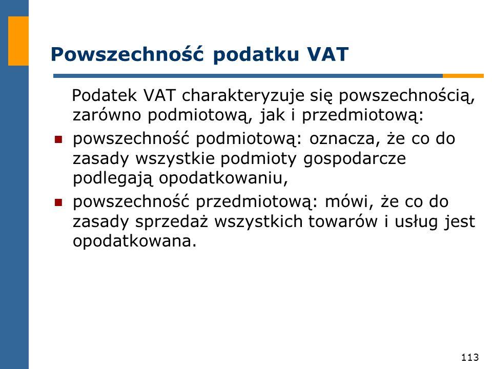 Powszechność podatku VAT