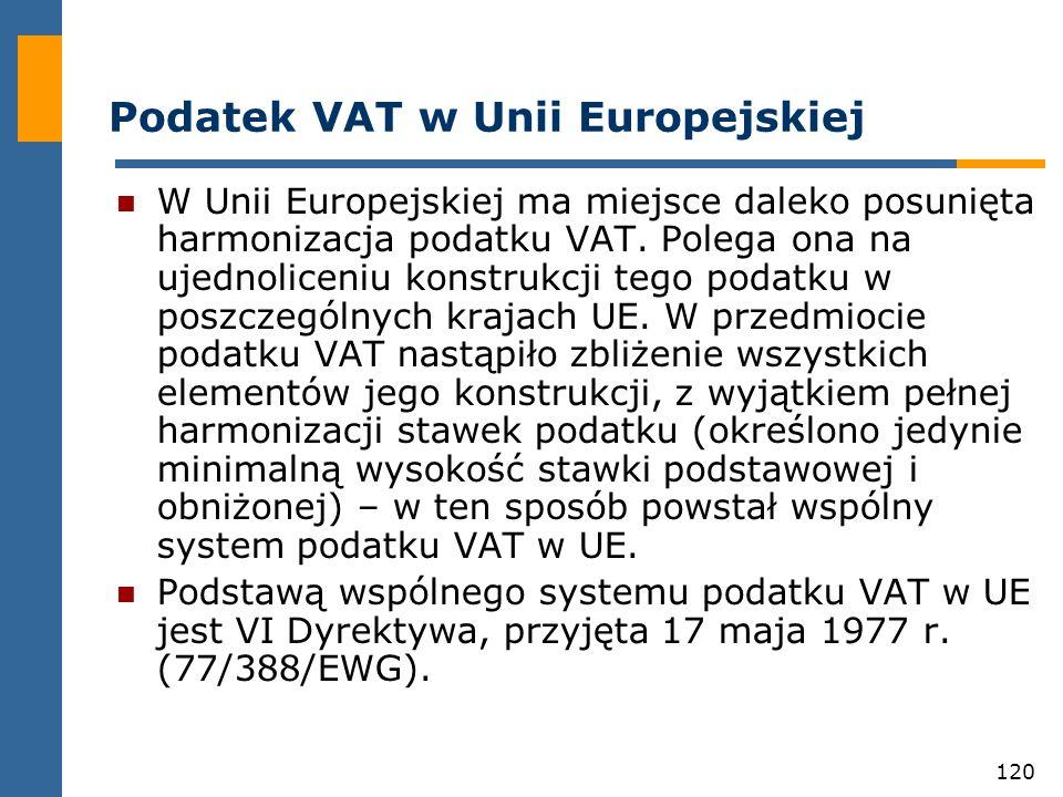 Podatek VAT w Unii Europejskiej