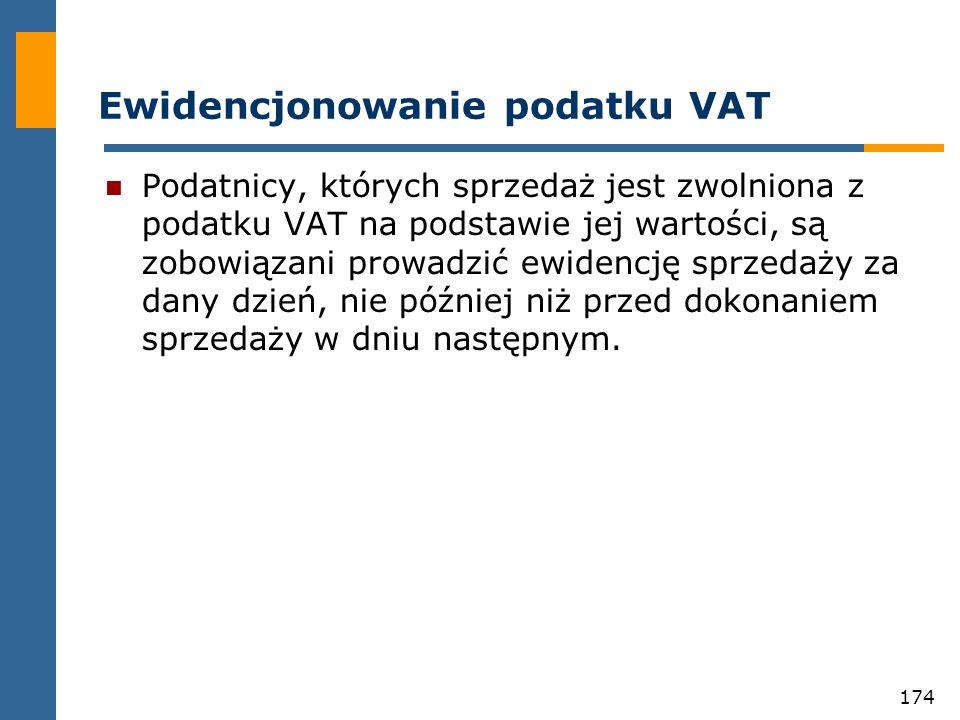 Ewidencjonowanie podatku VAT