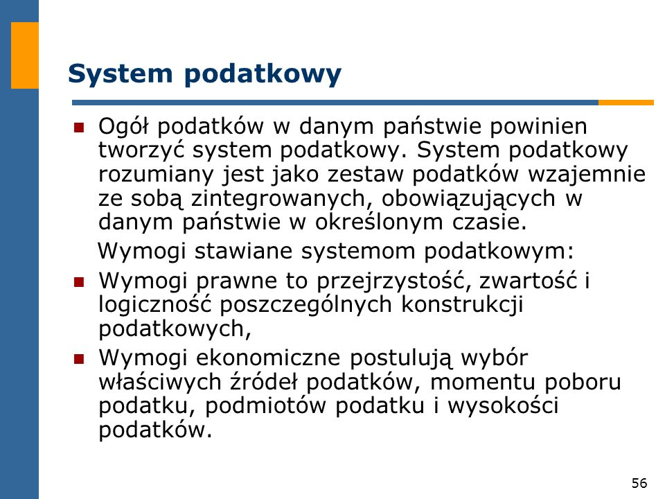 System podatkowy