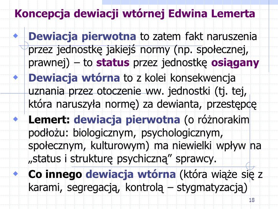 Koncepcja dewiacji wtórnej Edwina Lemerta