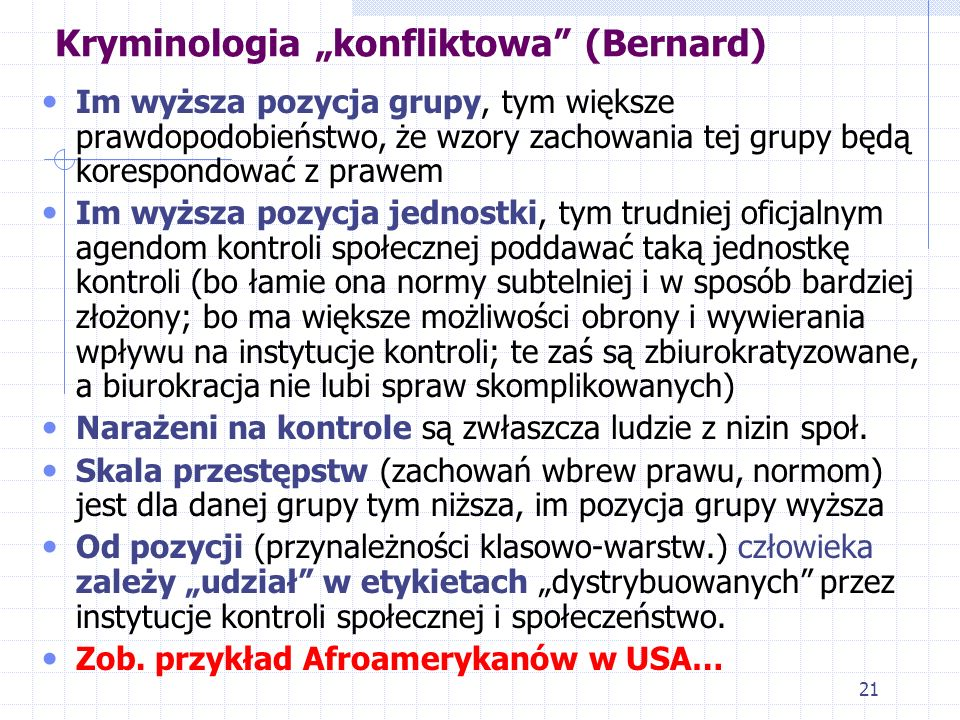 "Kryminologia ""konfliktowa (Bernard)"
