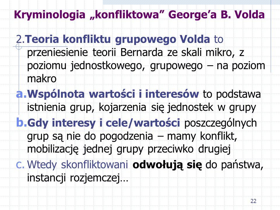 """Kryminologia """"konfliktowa George'a B. Volda"""