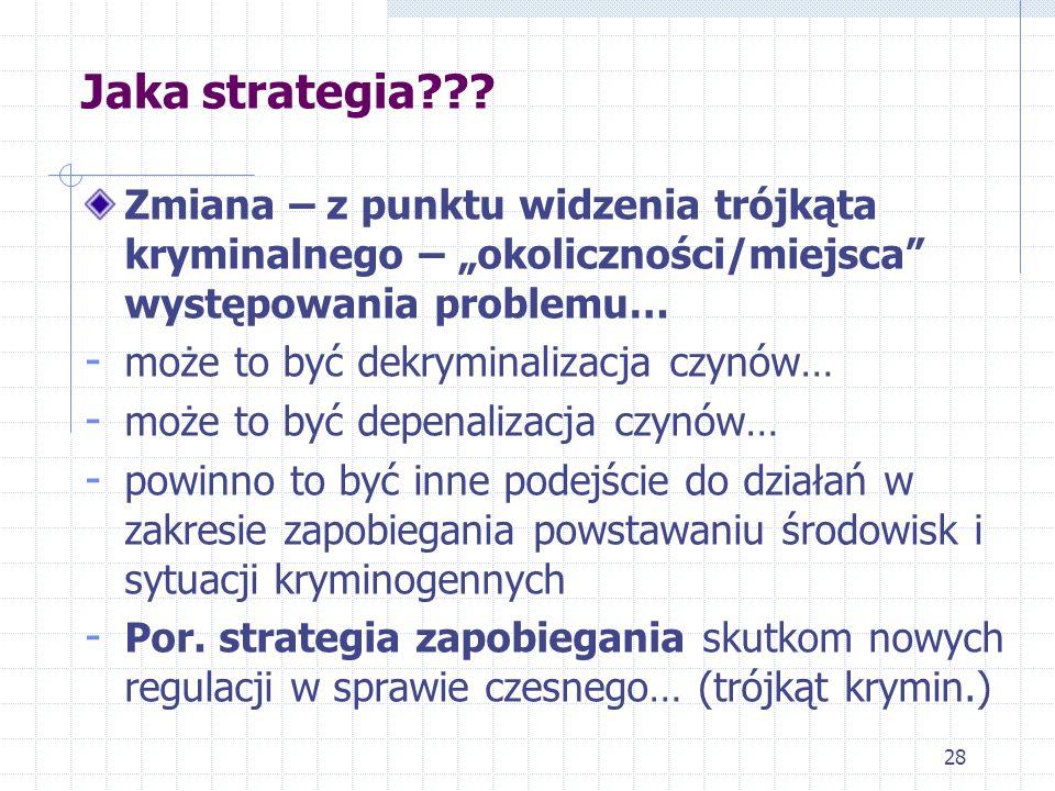 """Jaka strategia Zmiana – z punktu widzenia trójkąta kryminalnego – """"okoliczności/miejsca występowania problemu…"""