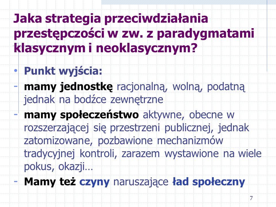Jaka strategia przeciwdziałania przestępczości w zw