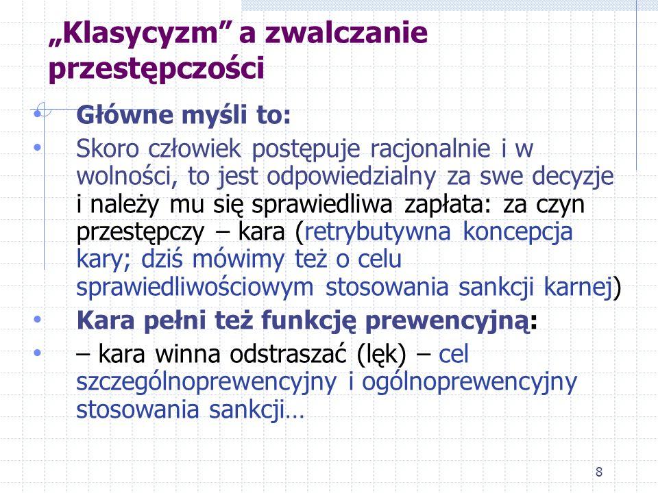 """""""Klasycyzm a zwalczanie przestępczości"""