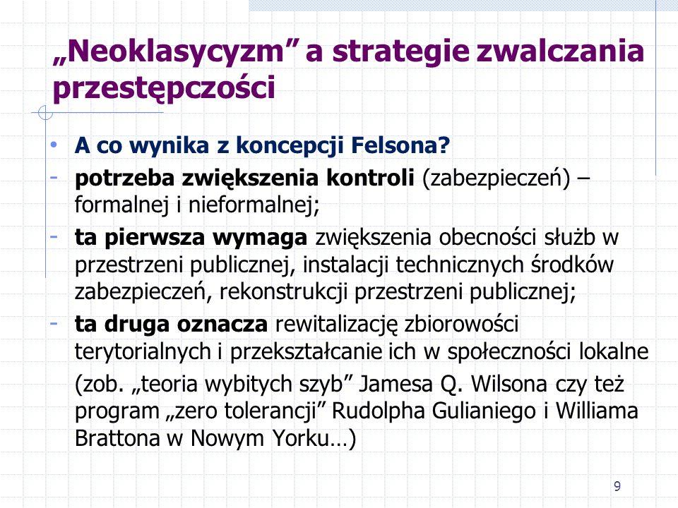 """""""Neoklasycyzm a strategie zwalczania przestępczości"""