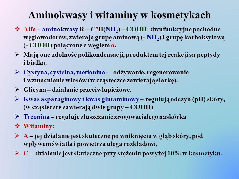 Aminokwasy i witaminy w kosmetykach