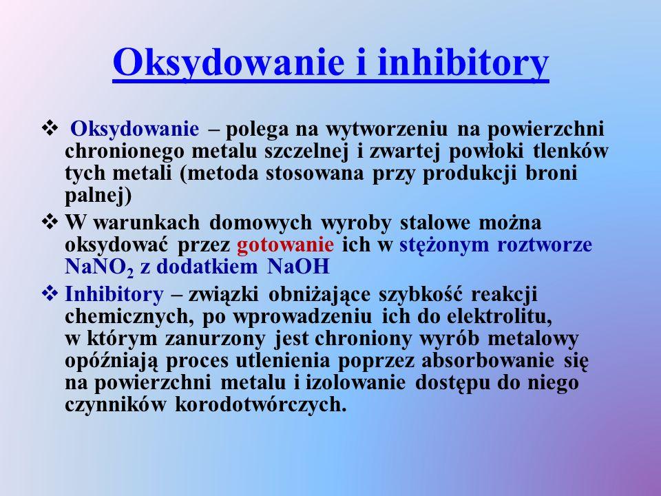 Oksydowanie i inhibitory