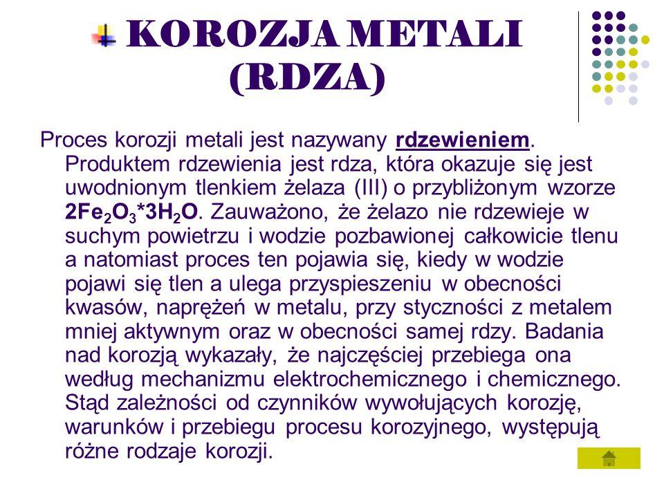 KOROZJA METALI (RDZA)