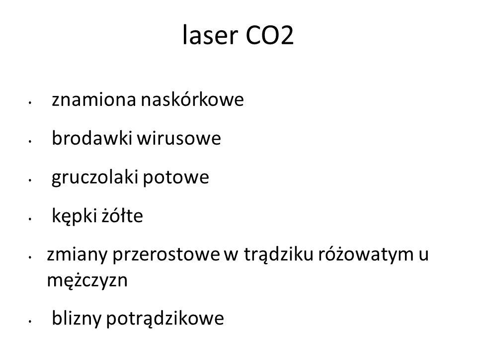 laser CO2 znamiona naskórkowe brodawki wirusowe gruczolaki potowe
