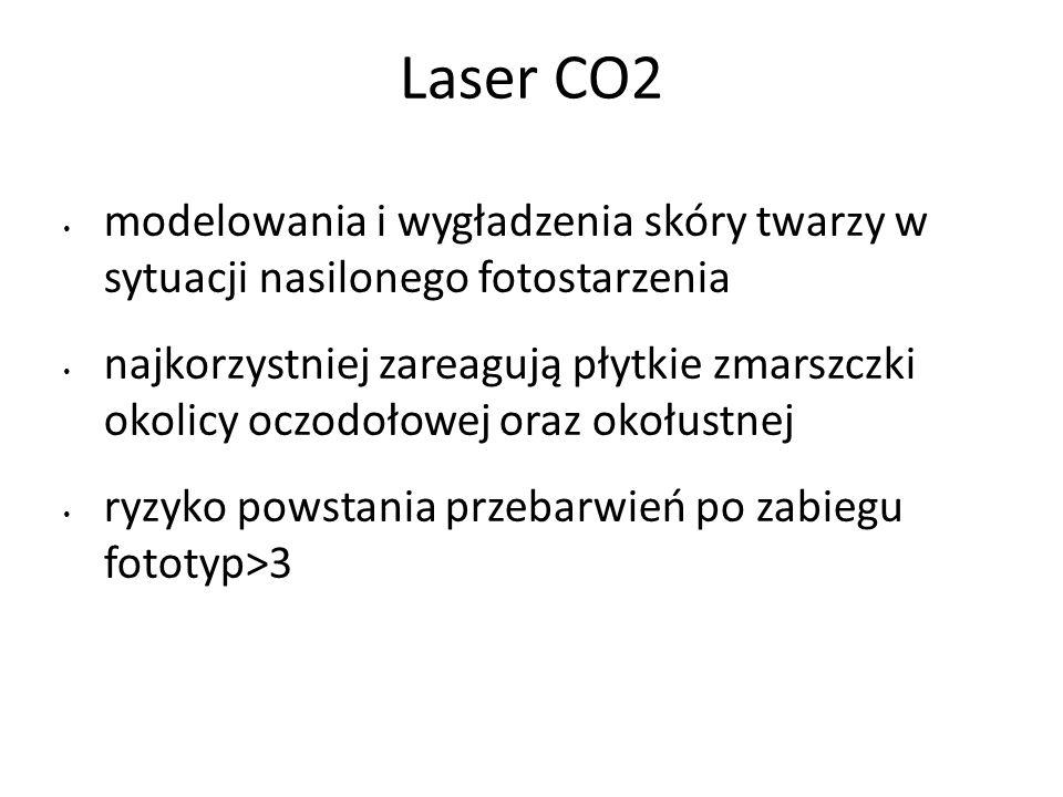 Laser CO2 modelowania i wygładzenia skóry twarzy w sytuacji nasilonego fotostarzenia.