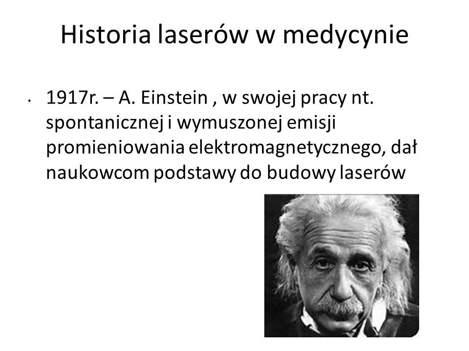 Historia laserów w medycynie