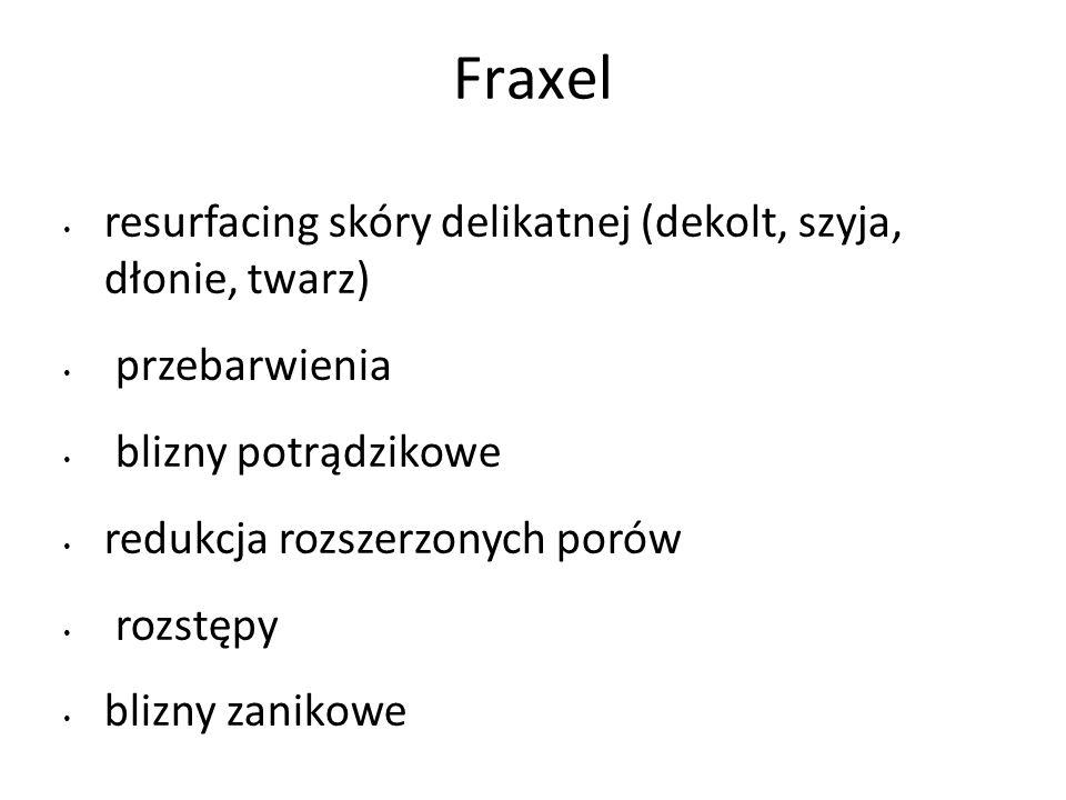 Fraxel resurfacing skóry delikatnej (dekolt, szyja, dłonie, twarz)
