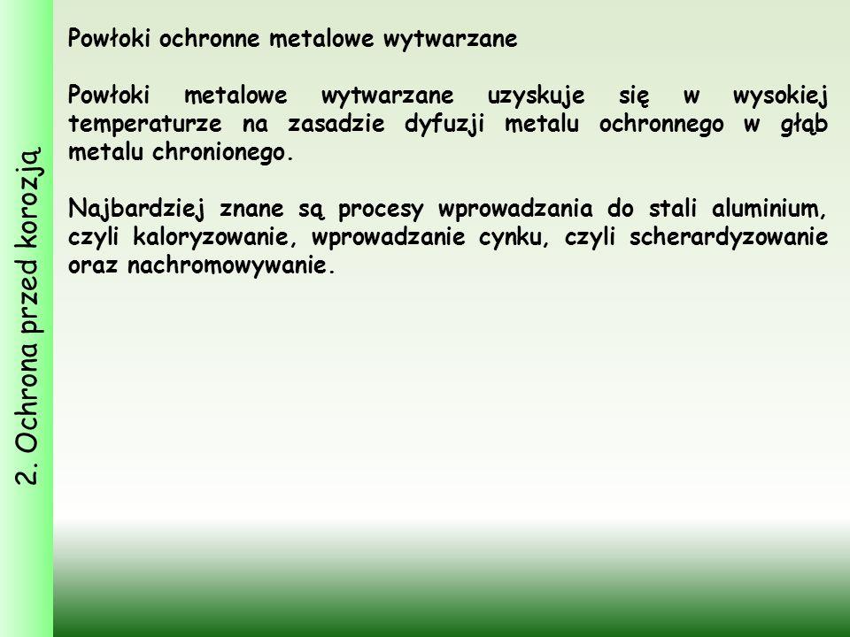 2. Ochrona przed korozją Powłoki ochronne metalowe wytwarzane