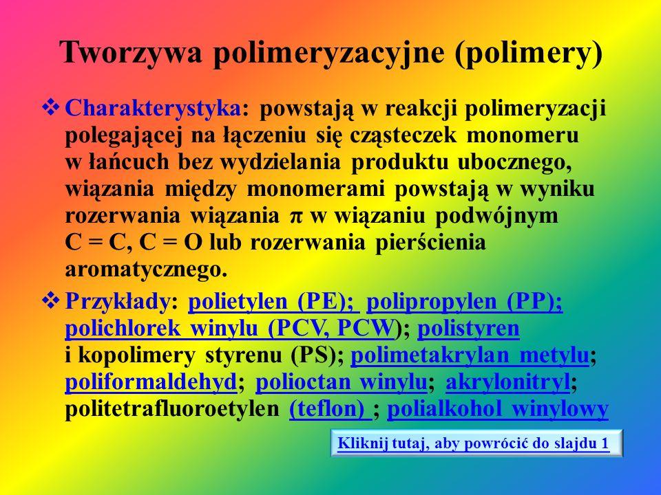 Tworzywa polimeryzacyjne (polimery)