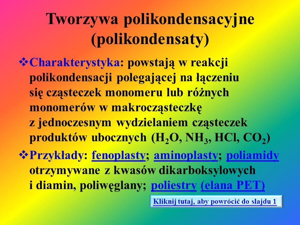Tworzywa polikondensacyjne (polikondensaty)